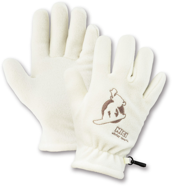 Fleece Gloves - White