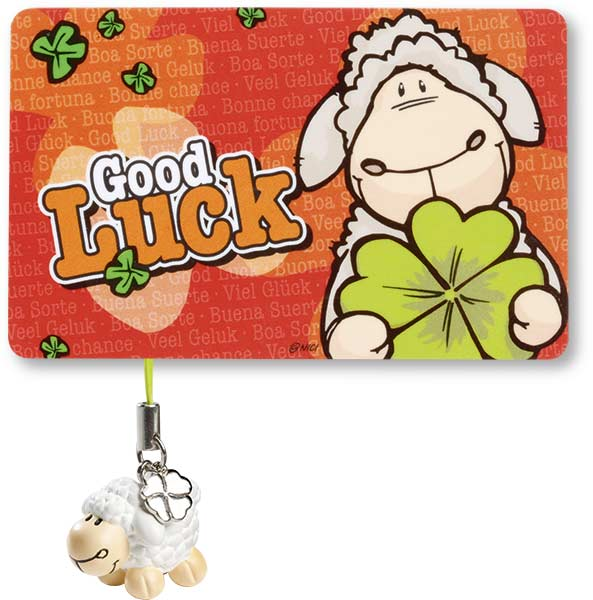 Sheep Lucky Card with Beauty