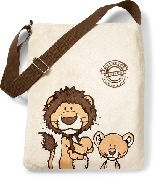 Lion & Baby Lion Shoulder Bag (Reversible)