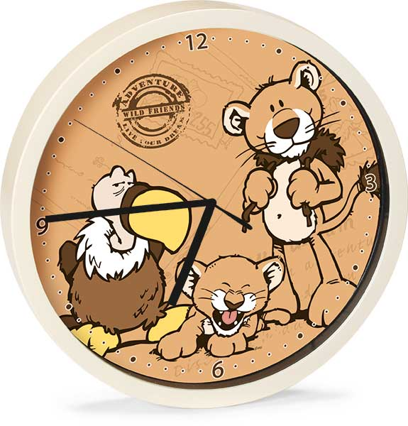 Vulture & Lion Wall Clock