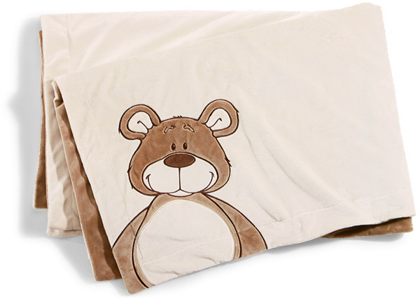 NICI Classic Bear Plush Blanket