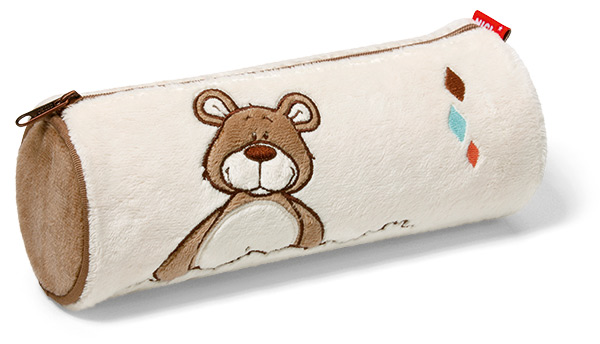NICI Classic Bear Pencil Case - Light Brown