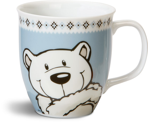 Polar Bear & Seal Mug - Blue