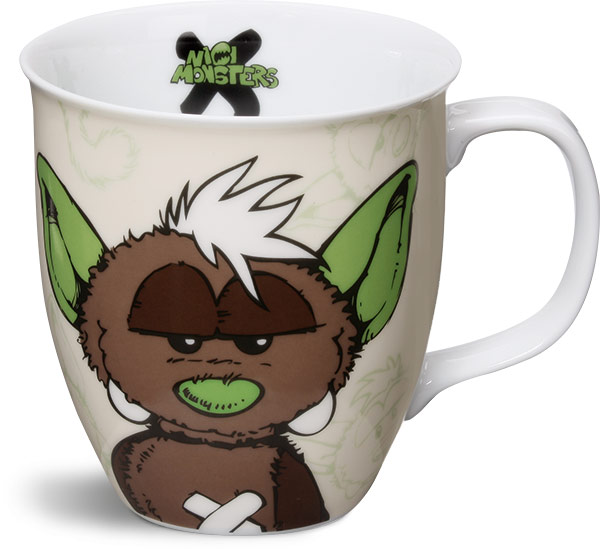 Monster 'Oops' Mug - Brown
