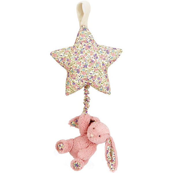 Blossom Bashful Tulip Pink Bunny Star Musical Pull