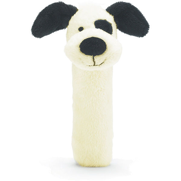 Bashful Black & Cream Puppy Squeaker Toy