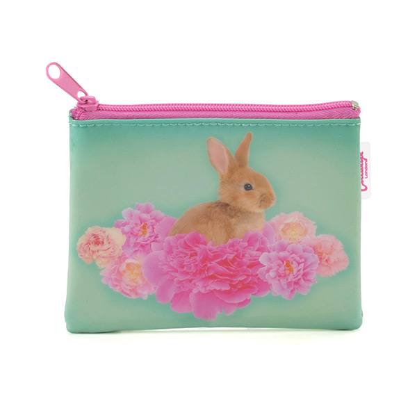 Bunny on Flowers Coin Purse