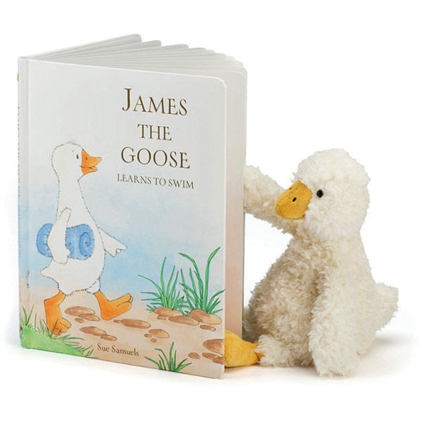 James the Goose Learns to Swim Book