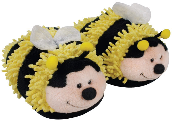 Fuzzy Friends Bumble Bee Slippers