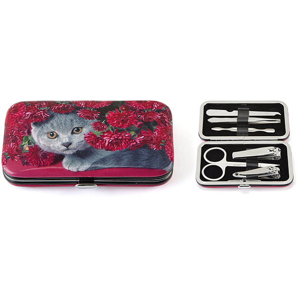 Cat with Flowers Nail Care Set