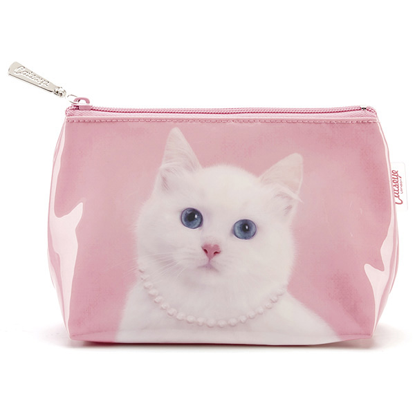 Cat with Pearl Necklace Small Bag