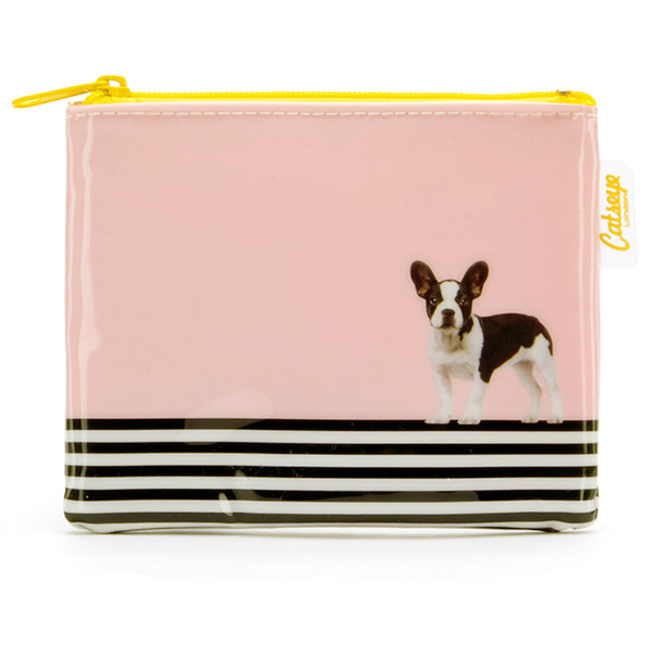 Dog on Stripe Coin Purse