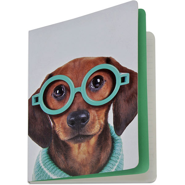 Glasses Dog A5 Notebook