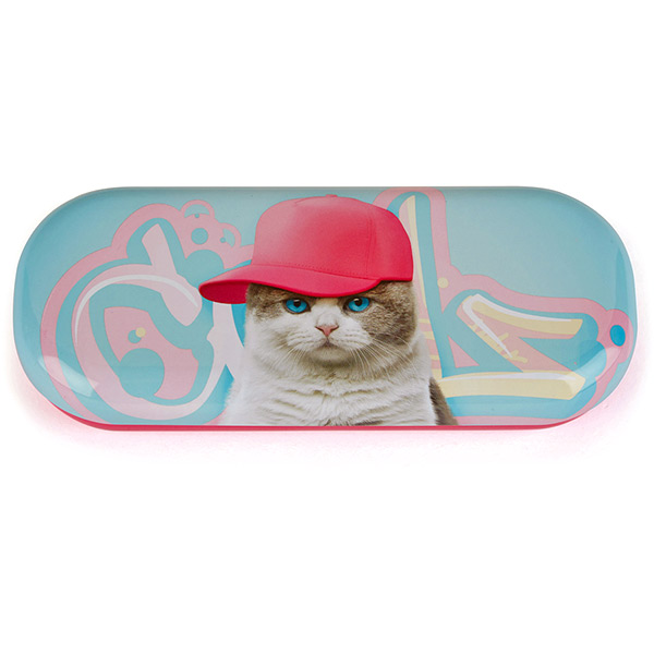 Graffiti Cat Glasses Case