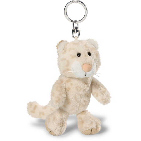 Snow Leopard Girl Keyring