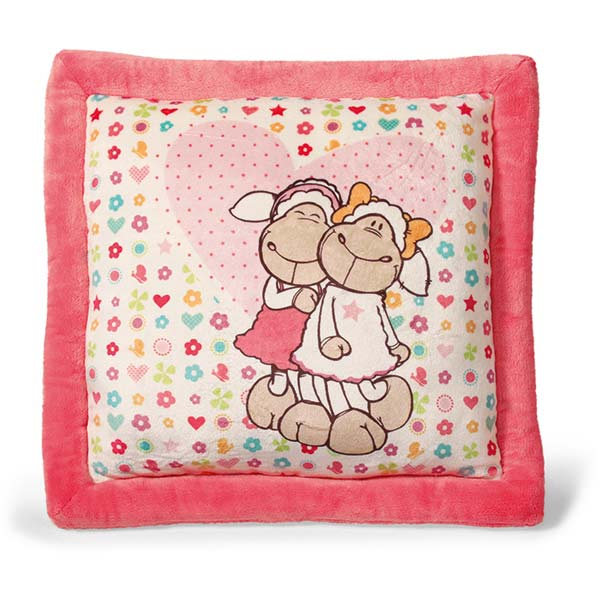 Jolly Amy & Frances Sheep Cushion - Square
