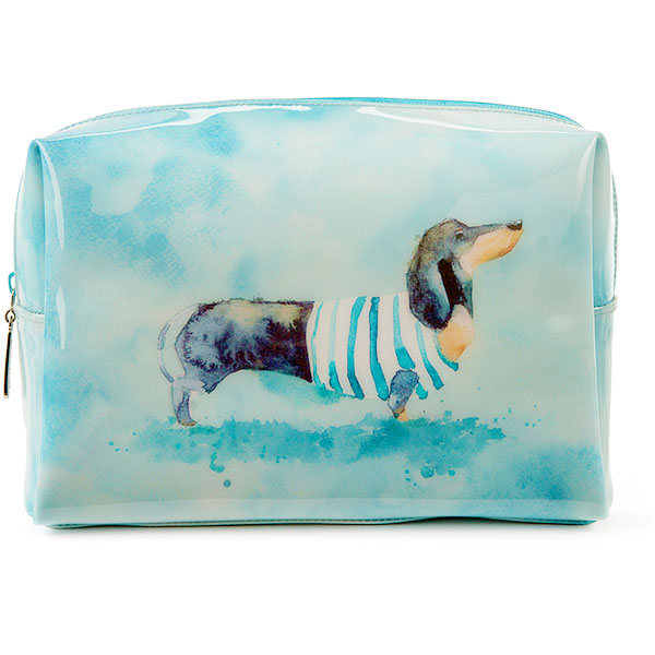 Sausage Dog Large Beauty Bag