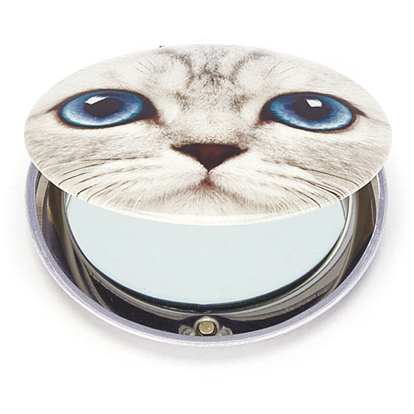 Silver Kitty Clam Mirror