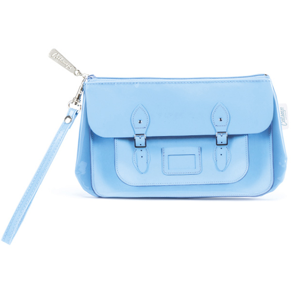 Blue Satchel Wristlet