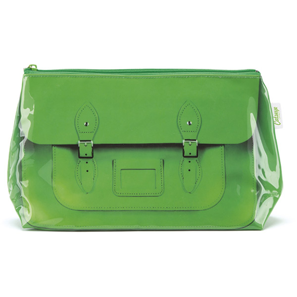 Green Satchel Wash Bag