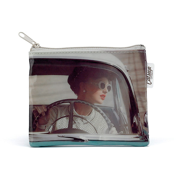 Steering Wheel Girl Zip Purse