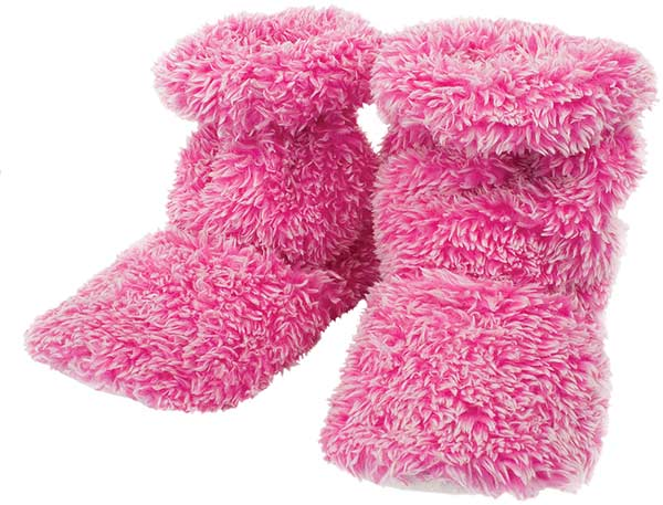 Fluffy Feet Warmers - Pink