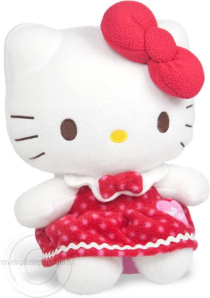 Sanrio - Hello Kitty Winter Red Dress   Plushpaws.co.uk