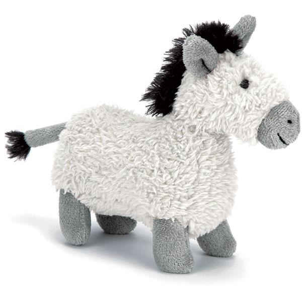 Little Jellycat Barn Buddy Donkey Squeaker Toy
