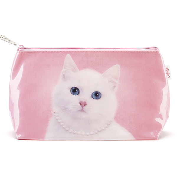 8907f0c50bd Catseye Cat with Pearl Necklace Wash Bag | Plushpaws.co.uk