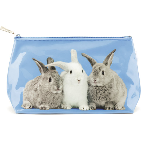 d6d7c6479c9 Catseye Rabbits on Blue Wash Bag | Plushpaws.co.uk