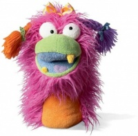 Fuzzy Wuggs Puppet - Pink