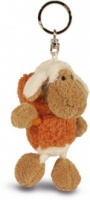 Sheep Keyring - Orange Pullover