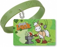 Horse Lucky Card with Bracelet
