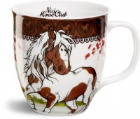 Horse Club Mug - Brown Border