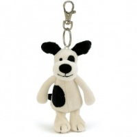Bashful Black & Cream Puppy Keyring