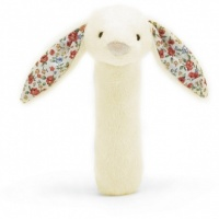 Blossom Bashful Cream Bunny Squeaker Toy