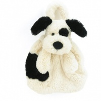 Bashful Black & Cream Puppy Bag
