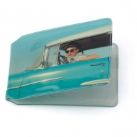 Blue Car Girl Travel Card Holder