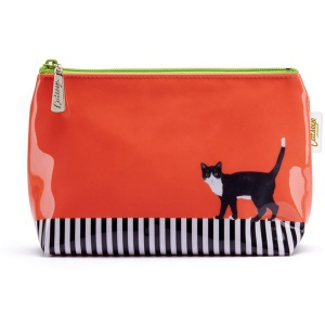 Cat on Stripe Small Bag
