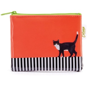 Cat on Stripe Coin Purse
