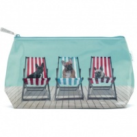 Deckchair Dogs Wash Bag