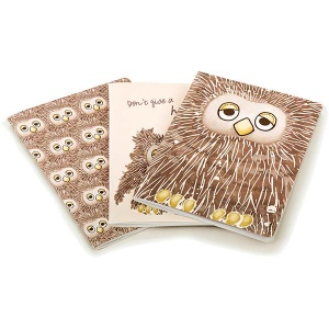 Don't Give a Hoot Owl A5 Notebooks