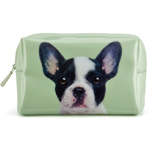 Dog on Stone Large Beauty Bag