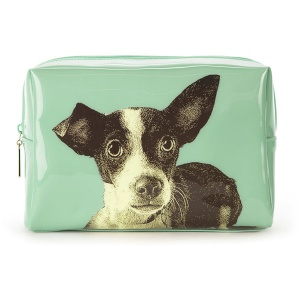 Etching Dog Large Beauty Bag