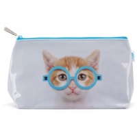 Glasses Cat Wash Bag