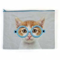 Glasses Cat A4 Pouch