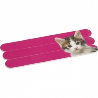 Kitten on Hot Pink Nail Files