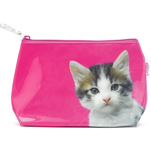 Kitten on Hot Pink Small Bag