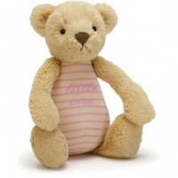 Little One Pink Bear Rattle