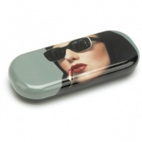Lipstick Woman Glasses Case